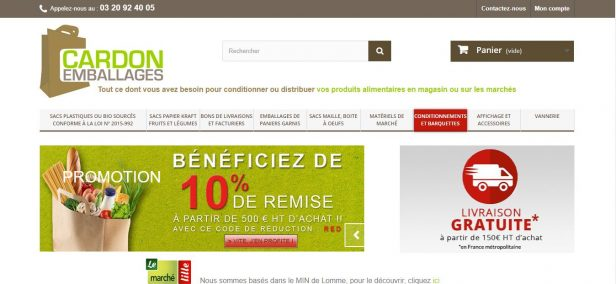 boutique e-commerce cardon emballages