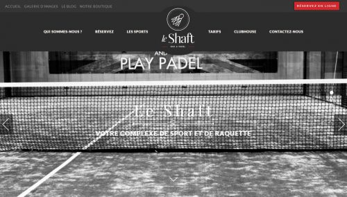 site wordpress le shaft badminton