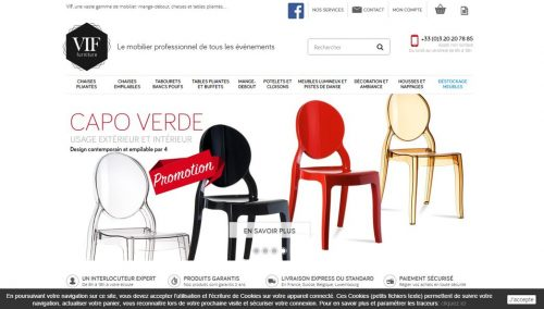site prestashop vif furniture